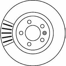 JURID 562080J (701615301F / 7D0615301C / 562080J) Диск тормозной задний VW TRANSPORTER T4 1990 - 2003