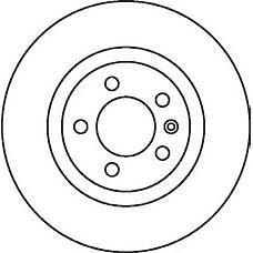 JURID 562081J (701615601A / 7D0615601 / 701615601) Диск тормозной задний VW SHARAN 1995 2010, TRANSP VW transporterIV