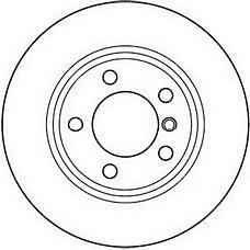 JURID 562090J (34111164539 / 34116757526 / 34116766224) Диск тормозной передний вент. BMW 3 1998 >>, Z3 200