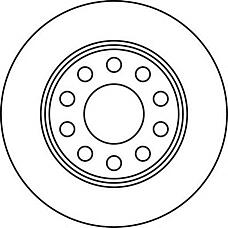 JURID 562191J (8E0615601D / 8E0615601Q / 8E0615301AA) диск торм. Audi (Ауди) / VW a4 / Passat (Пассат) 00> задний . 1 шт (min 2 шт)