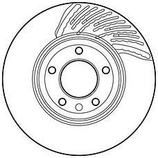 JURID 562359J (7L6615302E / 7L8615302 / 95535140250) Диск тормозной передний прав. VW TOUAREG 2002 - 201