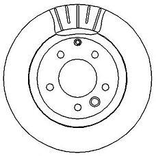 JURID 562393J (95535240130 / 7L8615601C / 7L6615601D) Диск тормозной задний VW TOUAREG 2002 >>