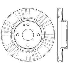 JURID 562565JC (BJ1Y3325X) диски тормозные, комплект