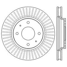 JURID 562573JC (MR510742 / MR510741 / MR527825) диски тормозные, комплект