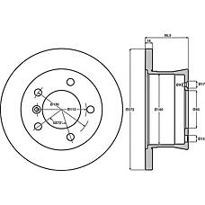 JURID 567761J (9024230312 / 2D0615601A / 9024230112) Диск тормозной задний MB G-CLASS 1979 >>, SPRINTER