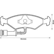JURID 571291D (6704268 / 6178479 / 6203650) колодки торм. Ford (Форд) перед.к-т
