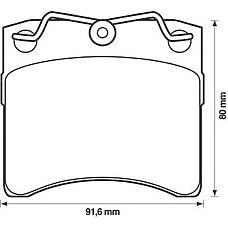 JURID 571458J (701698151B / 701698151G / 701698151H) колодки тормозные дисковые