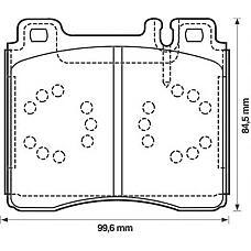 JURID 571477J (0024200420 / 0024201220 / 0024202620) Колодки тормозные передние MB S-CLASS 1991 1999, MB W140