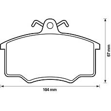 JURID 571491D (811698151B / 431698151E / 321698151) колодки торм. Audi (Ауди) 80 / 100 / VW / Volvo (Вольво) перед.к-т