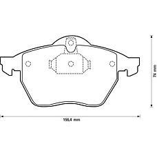 JURID 571920J (90512037 / 1605912 / 1605036) колодки тормозные дисковые