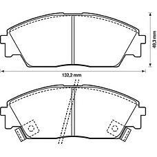 JURID 572330J (45022SH3932 / 45022SF1010 / 45022SH3G32) колодки торм. Honda (Хонда) Civic (Цивик) >97 перед.к-т + датчик