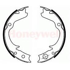 BENDIX 362452B (26257AA030 / 26257AA050 / 26257AA040) колодки барабанные\ Subaru (Субару) Impreza (Импреза) 93> / Legacy (Легаси) 1.6-22 89>