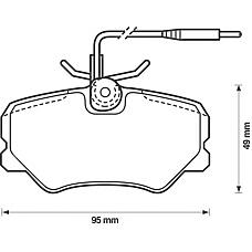 BENDIX 571359B (425095 / 425055 / 425087) колодки дисковые п.\ Peugeot (Пежо) 405 1.4-1.9d 87-95571359b_=262 02=fdb540 колодки дисковые п.\ Peugeot (Пежо) 405 1.4-1.9d 87-95