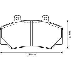 BENDIX 571370B (2711828 / 2711794 / 271179) колодки дисковые п.\ Volvo (Вольво) 740 / 760 / 780 84-90 / 940 / 960 90-95