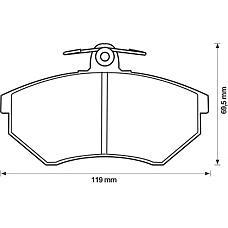 BENDIX 571376B (357698151A / 357698151E / 853698151A) колодки дисковые п.\ Audi (Ауди) 80 / 90 79-92, VW Golf (Гольф) III 91-98 / Passat (Пассат) 88-96