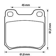 BENDIX 571389B (1605879 / 1605924 / 1605047) колодки дисковые з.\ Opel (Опель) Omega (Омега) a / b / vectra в 1.6-2.2dti 87-03