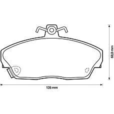 BENDIX 571438B (45022SK3E00 / 45022ST3E00 / GBP90315AF) колодки дисковые п.\ Honda (Хонда) Civic (Цивик) 1.4-2.0 &16v 95-01, rover 200 / 400 90-00