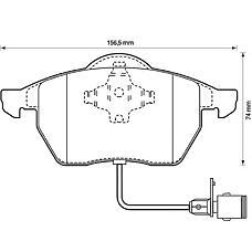 BENDIX 571512B (4A0698151 / 4A0698151C / 4A0698151A) колодки дисковые п.\ Audi (Ауди) 100 91-94 / a4 95-00 / a6 94-97