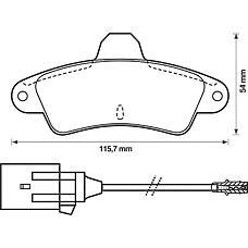 BENDIX 571755B (7153477 / 6669780 / 6669779) колодки дисковые з.\ Ford (Форд) Mondeo (Мондео) 1.6-1.8td 93-00 / cougar 2.0 / 2.5 98-00