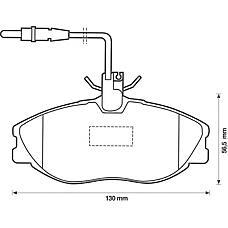 BENDIX 571898B (425132 / 425160 / 425143) колодки дисковые п. Peugeot (Пежо) 406 2.0-2.0hdi 95-04 диск 15