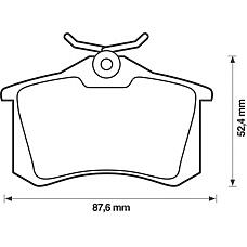 BENDIX 571906B (1H0698451A / 1H0698451D / 1J0698451) колодки дисковые з. Audi (Ауди) a2 / a3 / a6 / a8, VW Golf (Гольф) IIi-v / Passat (Пассат) 96>