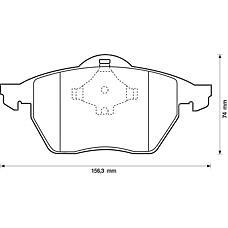 BENDIX 571935B (3A0698151A / 3A0698151 / 8N0698151) колодки дисковые п. Audi (Ауди) a3 1.8t, VW Golf (Гольф) IIi-iv / Passat (Пассат) 1.8t-2.9 96>