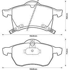 BENDIX 571975B (1605997 / 1605998 / 1605996) колодки дисковые п. \ Opel (Опель) Astra (Астра) g 1.8i-2.2i / tdi &16v 98>