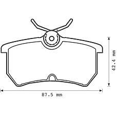 BENDIX 571998B (1075565 / 1107698 / 1425407) колодки дисковые з.\ Ford (Форд) Focus (Фокус) 1.4i-2.0i / 1.8td 98>