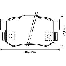 BENDIX 572138B (43022SV4A20 / 43022SN7000 / 43022SL5000) колодки дисковые з.\ Honda (Хонда) Accord (Аккорд) 1.8-2.3 / 2.0td 90-99, rover 600 1.8-2.3 93>