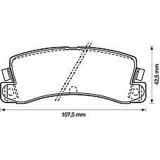 BENDIX 572182B (0449220010 / 0446632010 / 0449220011) колодки дисковые з.\ Toyota (Тойота) Corolla (Корола) 1.6-2.0d 83-02