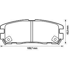 BENDIX 572221B (1605851 / 97039269 / 8970392690) колодки дисковые з.\ Opel (Опель) Monterey (Монтерей) 91-99 / Frontera (Фронтера) 95-98, isuzu trooper 92>