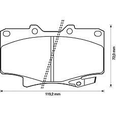 BENDIX 572253B (0446560020 / 0449160160 / 0449160150) колодки дисковые п.\ Toyota (Тойота) Land Cruiser (Ленд Крузер) 2.4-4.5 / 2.4d-4.2td 90>