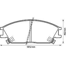 BENDIX 572269B (5810124B00 / 5810122A00 / 5810122A10) колодки дисковые п.\ Honda (Хонда) Accord (Аккорд) 1.6 / 1.8 83-85, Hyundai (Хендай) pony 1.3 / 1.5 90-95