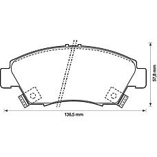 BENDIX 572340B (45022S04V10 / 45022SR3V10 / 45022SR3V01) колодки дисковые п.\ Honda (Хонда) Civic (Цивик) 1.4 / 1.6 & vt-i & vtec 91-01 / crx 1.6 92-98