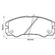 BENDIX 572348B (1605852 / 97047526 / 1605913) колодки дисковые п.\ Opel (Опель) Monterey (Монтерей) 3.2i / 3.1td 91>