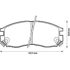 BENDIX 572381B (MB699266 / 58101M2A01 / MB858375) колодки дисковые п.\ Mitsubishi (Мицубиси) galant 1.8-2.0td 87-96 / Space wagon (Спейс вагон) 91-98