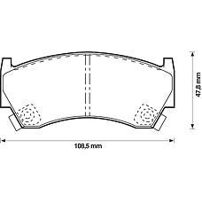 BENDIX 572396B (410601N090 / 410601N890 / 410601N060) колодки дисковые п.\ Nissan (Ниссан) Almera (Альмера) 1.4i-2.0d 95>