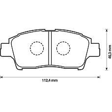BENDIX 572404B (0446513020 / 044650W050 / 0446513050) колодки дисковые п.\ Toyota (Тойота) Yaris (Ярис) 1.0i / 1.3i 99>