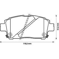 BENDIX 572405B (0446513020 / 0446552010 / 0446517101) колодки дисковые п.\ Toyota (Тойота) Yaris (Ярис) 1.0i-1.5i / 1.4d 99> / Celica (Селика) 1.8i wt-i 99>
