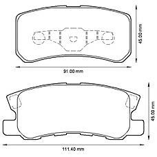 BENDIX 572498B (MR510544 / MN102628 / 4605A487) колодки дисковые задние\ Mitsubishi (Мицубиси) Pajero (Паджеро) / montero 1.8gdi / 3.2di / 3.5gdi 99>