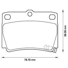 BENDIX 572519B (MR389575 / MN102626 / MR307415) колодки дисковые задние Mitsubishi (Мицубиси) montero sport 3.0i / 2.5td 98>
