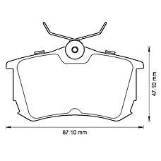 BENDIX 572520B (0446620130 / 0446602060 / 0446602010) колодки дисковые задние\ Toyota (Тойота) Corolla (Корола) 1.4i / 1.6i / 2.0d 97-00