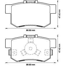 BENDIX 572544B (43022SJFE00 / 43022S9A010 / 43022S9AE00) колодки дисковые задние\ Honda (Хонда) cr-v / fr-v 1.7i / 1.8i / 2.0i / 2.2ctdi 02>