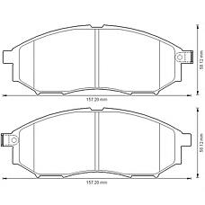 BENDIX 572575B (41060CC090 / 41060EB325 / 410600023R) колодки дисковые передние\ Nissan (Ниссан) murano 3.5 4wd 05>