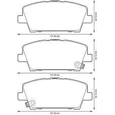 BENDIX 572579B (45022SMGE01 / 45022SMGE00 / 45022SMGE50) колодки дисковые передние Honda (Хонда) Civic (Цивик) 1.3 / 1.4 / 1.8i / 2.2cdti 06>