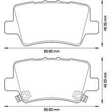 BENDIX 572580B (43022SMGE01 / 43022SMGE00 / 43022SMGE02) колодки дисковые задние\ Honda (Хонда) Civic (Цивик) 1.3i / 1.4 / 1.8i / 2.2cdti 06>