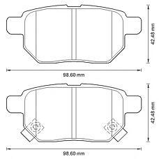 BENDIX 572591B (0446652120 / 0446602190 / 0446612130) колодки дисковые з.\Toyota (Тойота) Corolla (Корола) 1.6 07>