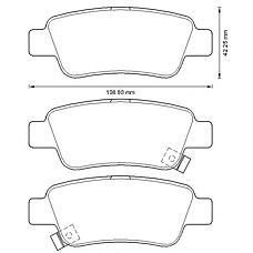BENDIX 572606B (43022SWWG01 / 43022SWWG02 / 43022T1GG00) колодки дисковые задние Honda (Хонда) cr-v 2.0 / 2.4 / 2.2d 06>