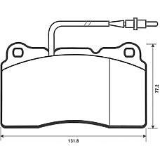 BENDIX 573001B (425207 / 9404252548 / 425255) колодки дисковые п. Peugeot (Пежо) 607 3.0 24v 00>