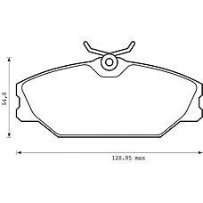 BENDIX 573008B (7701206379 / 7701209380 / 410607125R) колодки дисковые п.\ Renault (Рено) Laguna (Лагуна) 1.9dci 99-01 / Megane (Меган) 1.8i / 1.9dci 99>